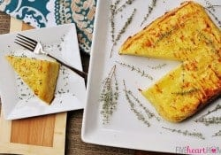 Scalloped Potato Flan with Gruyère & Garlic
