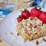 Coconut Almond Baked Oatmeal | {Five Heart Home for A to Zebra Celebrations}
