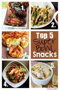 Top 5 Super Bowl Snacks | FiveHeartHome.com
