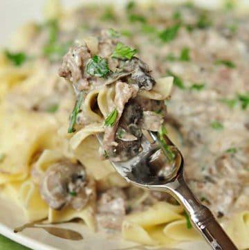 Slow Cooker Beef Stroganoff ~ No 'Cream of X' Soup!