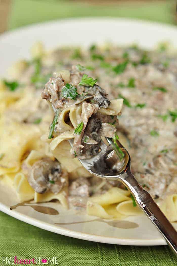 Slow Cooker Beef Stroganoff ~ No 'Cream of X' Soup