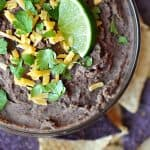 Zesty Black Bean Dip | Five Heart Home
