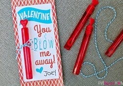 Bubbles Valentines {Free Printable} ~ Valentine, You Blow Me Away!
