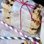 Chewy No-Bake Granola Bars with Coconut Oil ~ quick and easy to make with all natural ingredients | FiveHeartHome.com