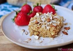 Coconut Almond Baked Oatmeal {Dairy-Free}