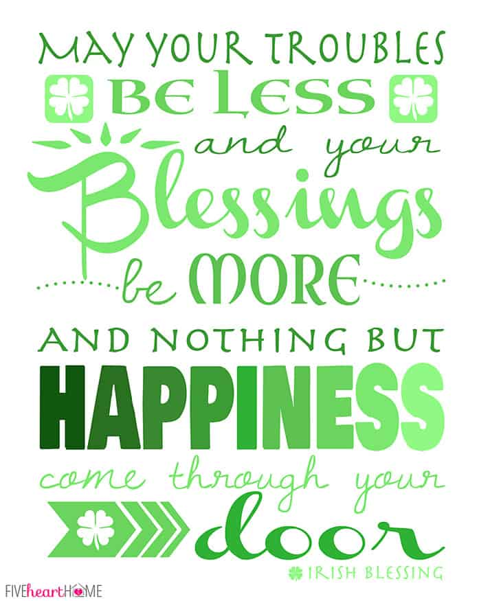 image relating to Printable Irish Blessing referred to as St. Patricks Working day Cost-free Printable ~ Irish Blessing