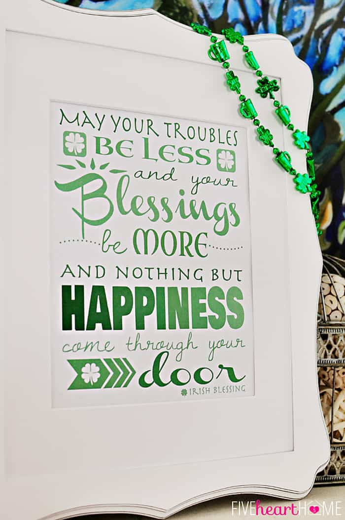 graphic regarding Printable Irish Blessing titled St. Patricks Working day No cost Printable ~ Irish Blessing