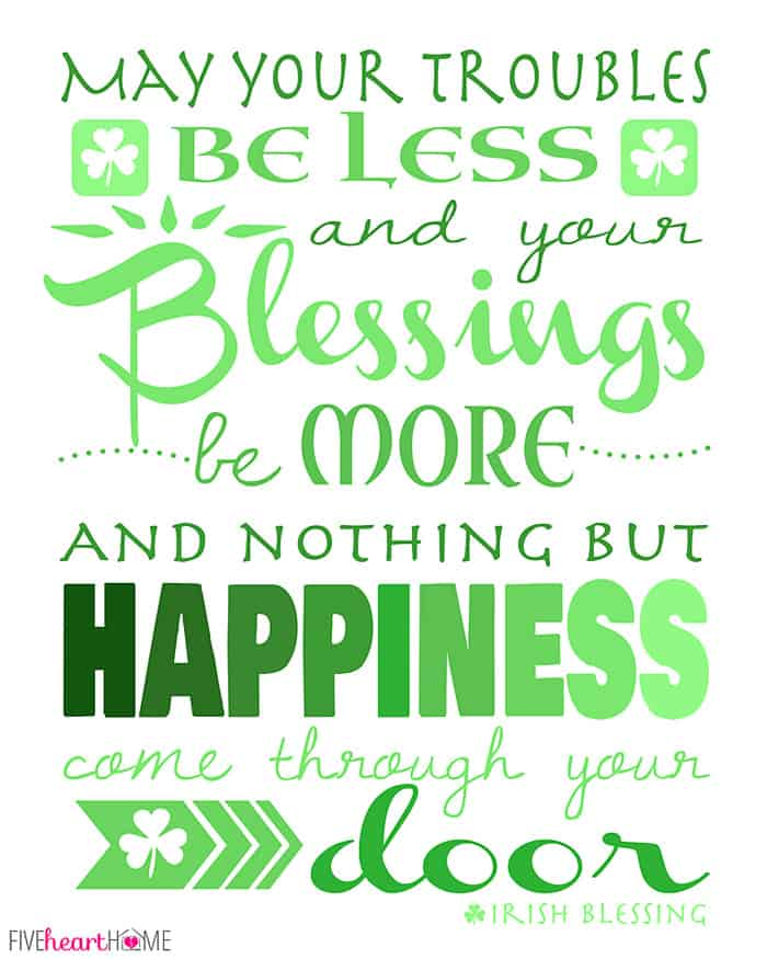 St. Patrick's Day Free Printable ~ Irish Blessing