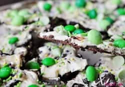 Leprechaun Bait ~ Chocolate Mint Cookie Bark