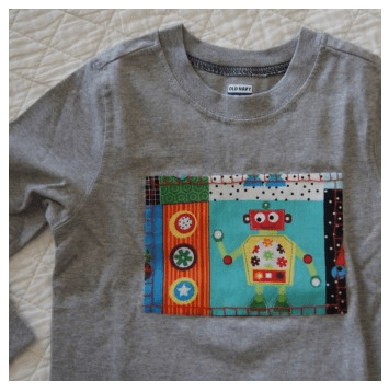 Robots Applique Tee from Scarlet Threads