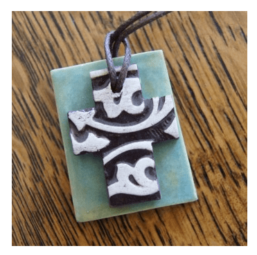 Handmade Pottery Necklace from Scarlet Threads