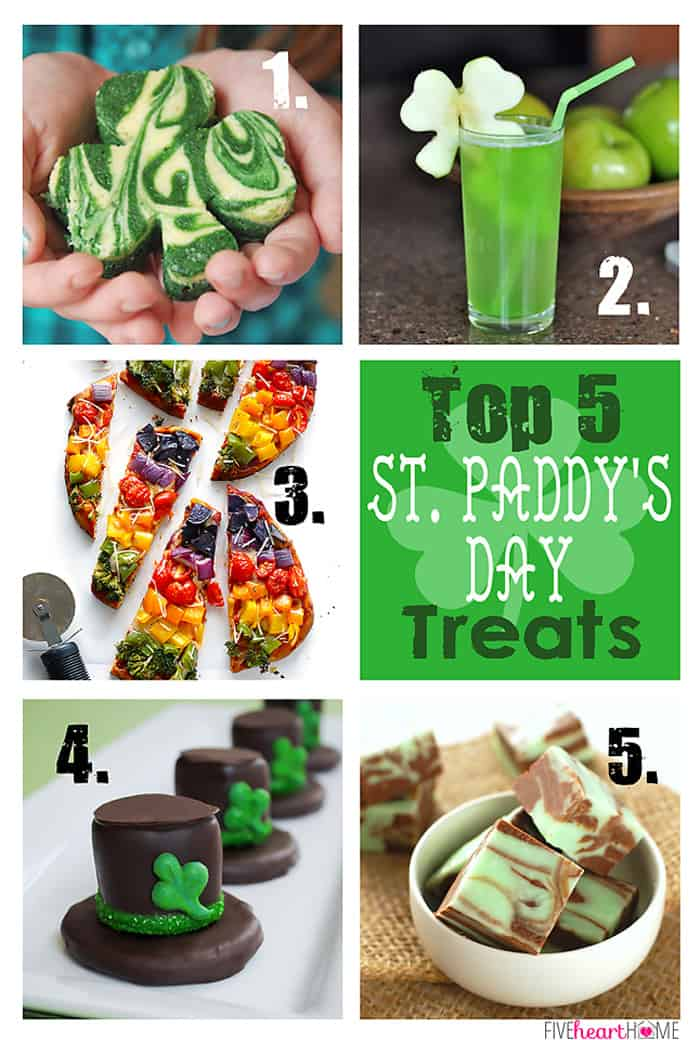 Top 5 St. Patrick's Day Treats | FiveHeartHome.com