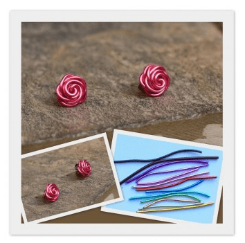 Wired Flower Earrings from Scarlet Threads