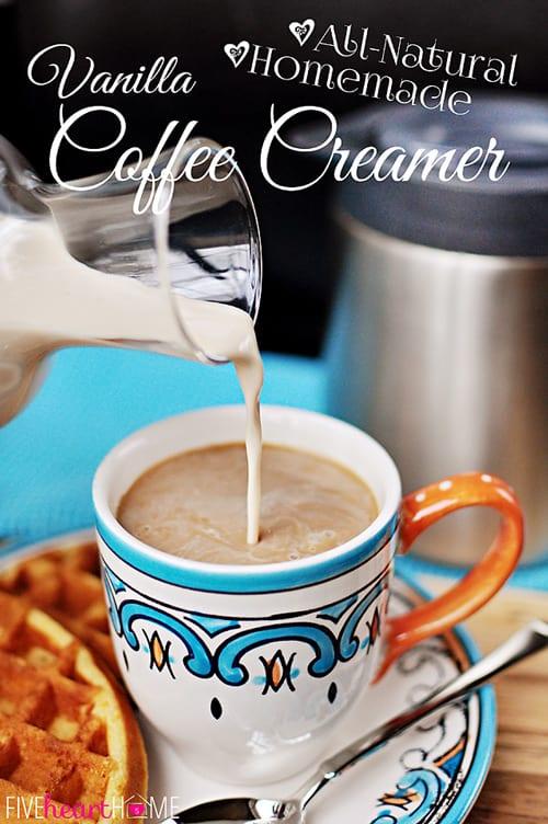 All-Natural and Homemade: Vanilla Coffee Creamer | FiveHeartHome.com
