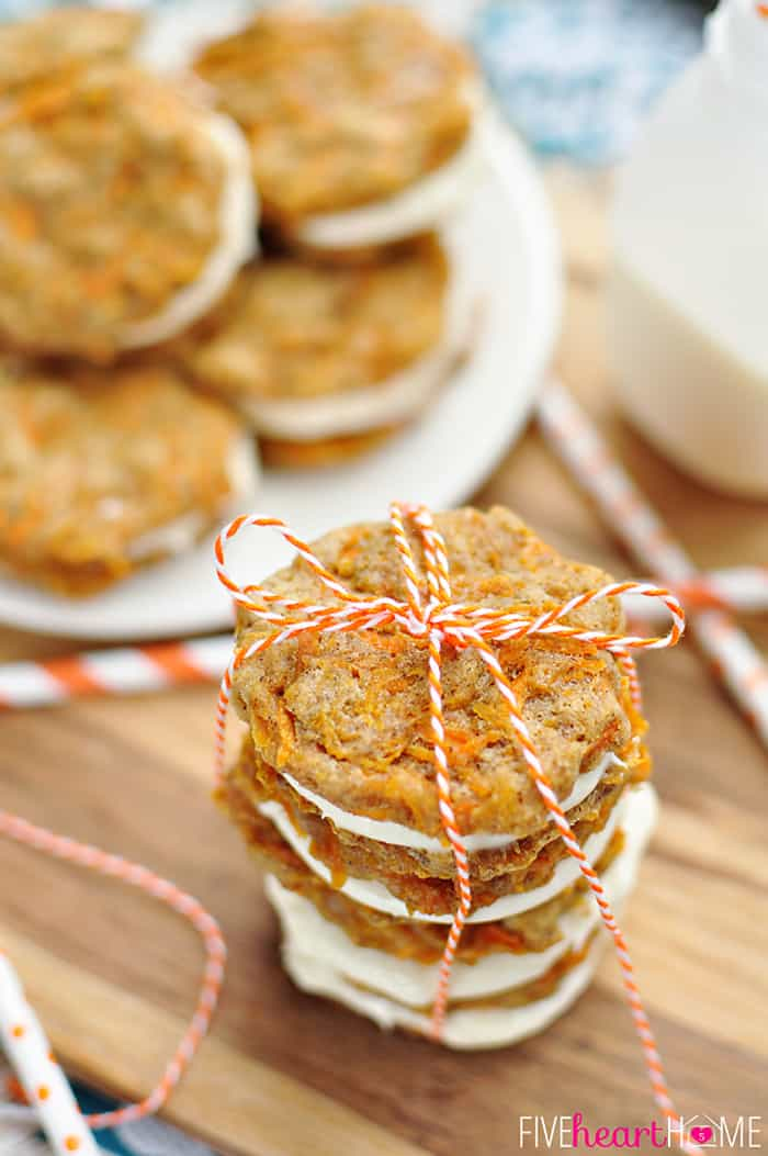 Close-Up of a Perfect Stack of Cookies Tied with Twine