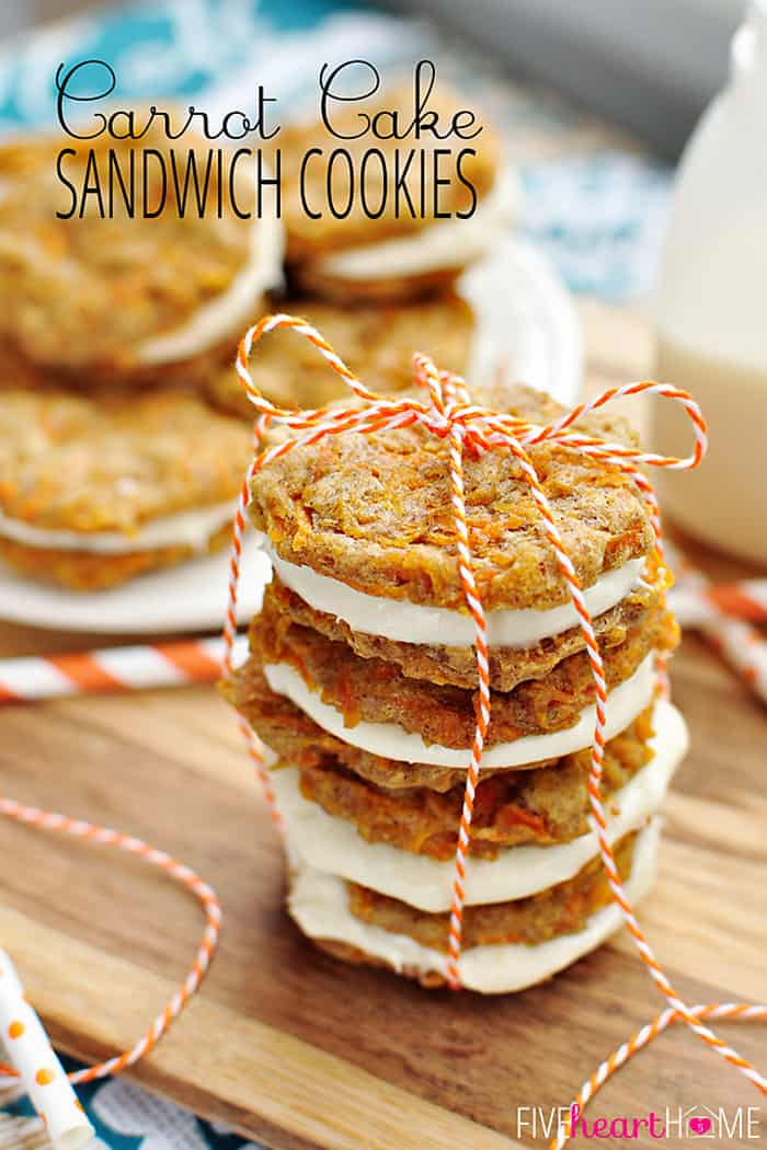 Carrot Cake Sandwich Cookies Mini Carrot Cake Whoopie Pies Filled With Cream Cheese Frosting Make