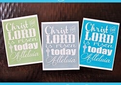Free Easter Hymn Printable {with 3 Color Choices}