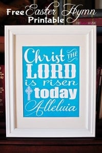 Free Easter Hymn Printable ~ Christ the Lord Is Risen Today {with 3 Color Choices} | FiveHeartHome.com