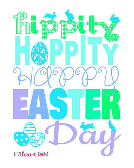 photo regarding Happy Easter Printable named Absolutely free Easter Printable with 3 Coloration Possibilities ~ Hippity