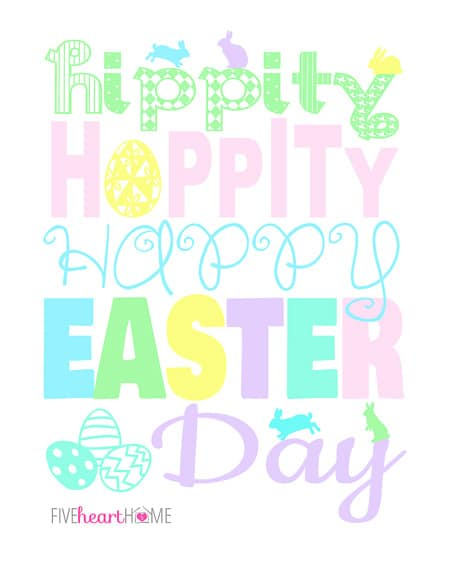 photo relating to Happy Easter Sign Printable known as Totally free Easter Printable with 3 Shade Alternatives ~ Hippity