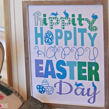 Free Easter Printable {with 3 Color Choices} ~ Hippity, Hoppity, Happy Easter Day!