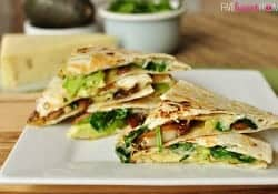 Spinach & Mushroom Quesadillas with Avocado & Pepper Jack {Meatless Dinner Idea for Lent}