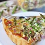 close-up slice of Springtime Asparagus Tart