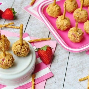 Strawberry Graham Cheese Ball Bites