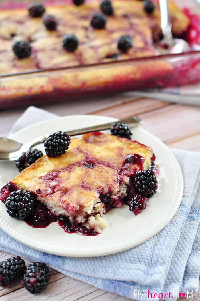 Blackberry Cobbler on a plate