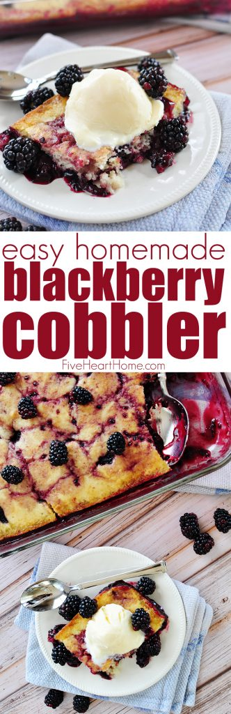 Blackberry Cobbler collage with text