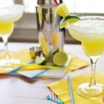 Fresh Pineapple Margaritas ~ made with fresh lime juice and pineapple purée, these are perfect for celebrating Cinco de Mayo   FiveHeartHome.com