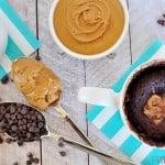 One-Minute Chocolate Peanut Butter Mug Cake | FiveHeartHome.com