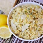 Parmesan Orzo with Lemon and Thyme ~ a perfect summer side dish! | FiveHeartHome.com for LoveGrowsWild.com