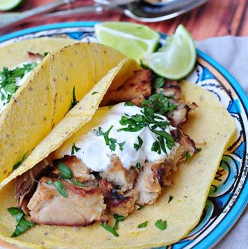 Slow Cooker Carnitas Tacos (or Mexican Pulled Pork) ~ perfect for taco night or Cinco de Mayo | FiveHeartHome.com