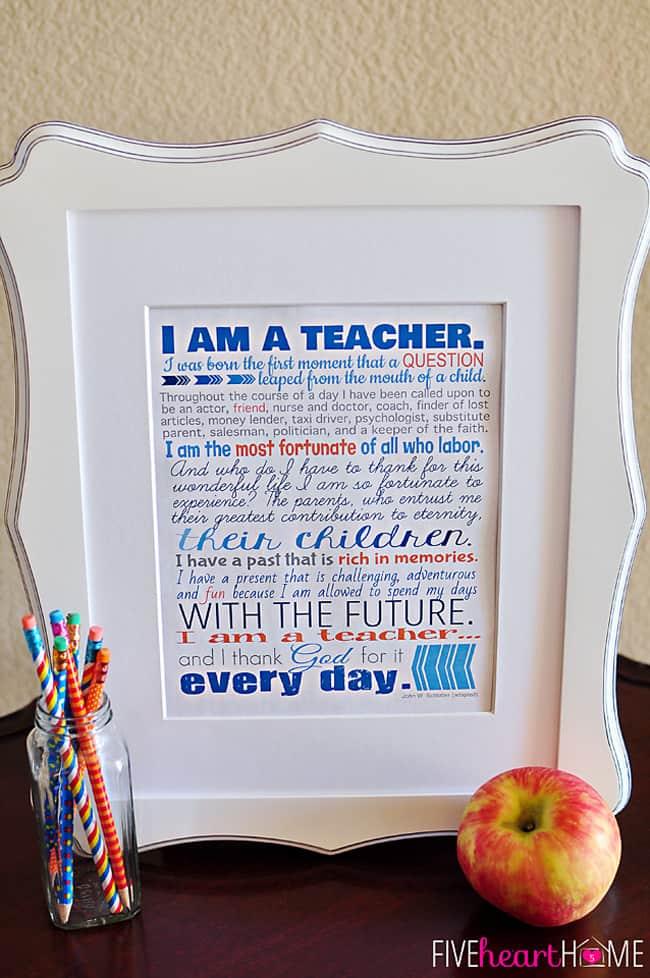 graphic about Free Printable Teacher Appreciation Quotes identify Trainer Appreciation Printables ~ 8x10\