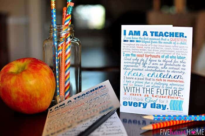 photo relating to Free Printable Teacher Appreciation Quotes called Trainer Appreciation Printables ~ 8x10\