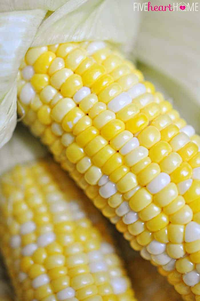 Close-Up of Oven Roasted Corn