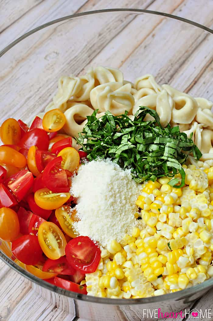 Step 2: Mix The Salad Ingredients | Homemade Pasta Salad Recipe To Enjoy This Spring