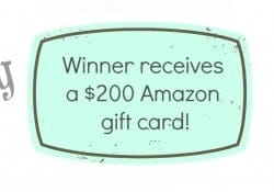 $200 Amazon Gift Card Giveaway to celebrate the first blogiversary of Carmel Moments!