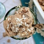 Double Chocolate Coconut Ice Cream ~ a delicious treat that can be made dairy-free | FiveHeartHome.com