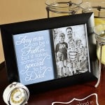 Father's Day Free Printable: Dad Quote ~ frame on its own, next to a photo, or as part of a collage; available in 2 sizes and 3 colors | FiveHeartHome.com