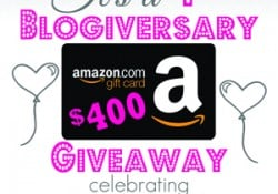 Five Heart Home's 1st Blogiversary + $400 Amazon Gift Card GIVEAWAY!