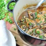 Pork Tenderloin with Mushroom Gravy ~ quick stovetop supper featuring tender medallions of pork in a savory mushroom gravy | FiveHeartHome.com