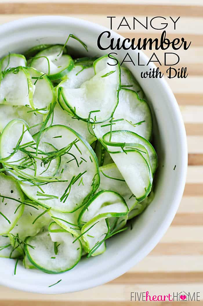 Tangy Cucumber Salad with Dill