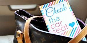 """Check the Car Seat"" Reminder Cards (Free Printable) ~ a simple visual cueing system to help prevent vehicular heatstroke of children accidentally forgotten in cars 
