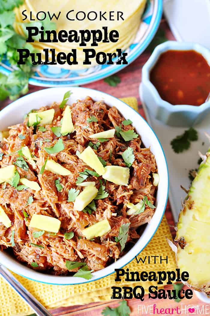 Slow Cooker Pineapple Pulled Pork with Pineapple BBQ Sauce ~ use on ...