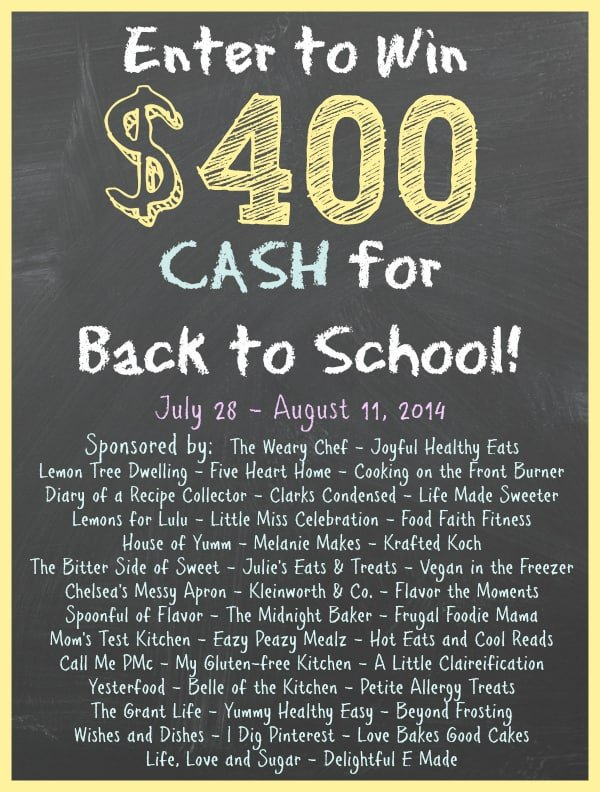 Back to School $400 Cash GIVEAWAY | FiveHeartHome.com