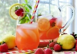 Strawberry Lemonade Mojitos {or} Faux-jitos