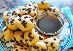 Whole Wheat Pancake Bites, AKA Pancake Mini Muffins ~ a fun-to-eat breakfast that can be topped with chocolate chips, berries, diced bananas, nuts, etc. | FiveHeartHome.com