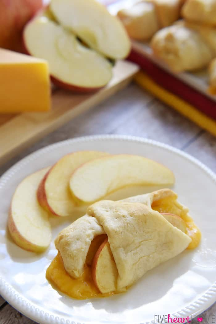 One White Plate with Slices of Apples